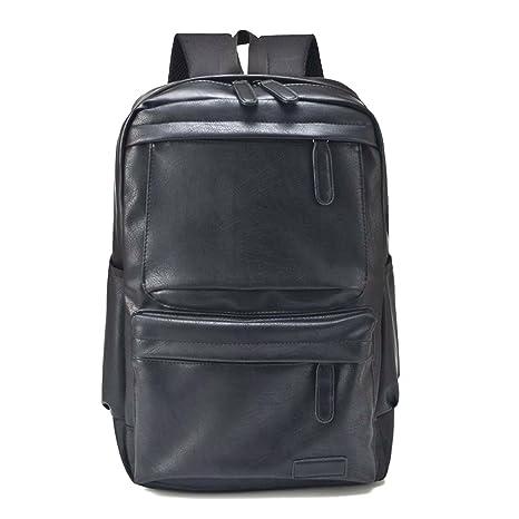 b2321eac0a1b36 Naerde 14,1 pollici PU pelle Laptop Computer zaino scuola liceo zaino  Casual tracolle borsa