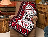 Mision Del Rey Southwestern Accent Throw 50x60 -Navajo Red