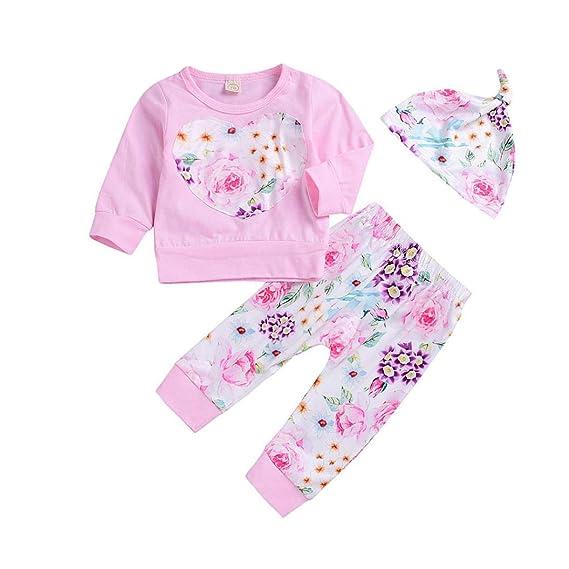 K-youth Ropa Bebe Otoño Invierno Infantil Recién Nacido Niña Casual Niño Impresión Camisas de Manga Larga Blusas Tops + Pantalones Largos y ...