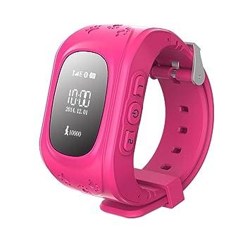 Hangang Reloj para Niños Smartwatch Niño para llamadas SOS localizador de dispositivo para niños seguro, antipérdida, reloj inteligente podómetro, SOS ...