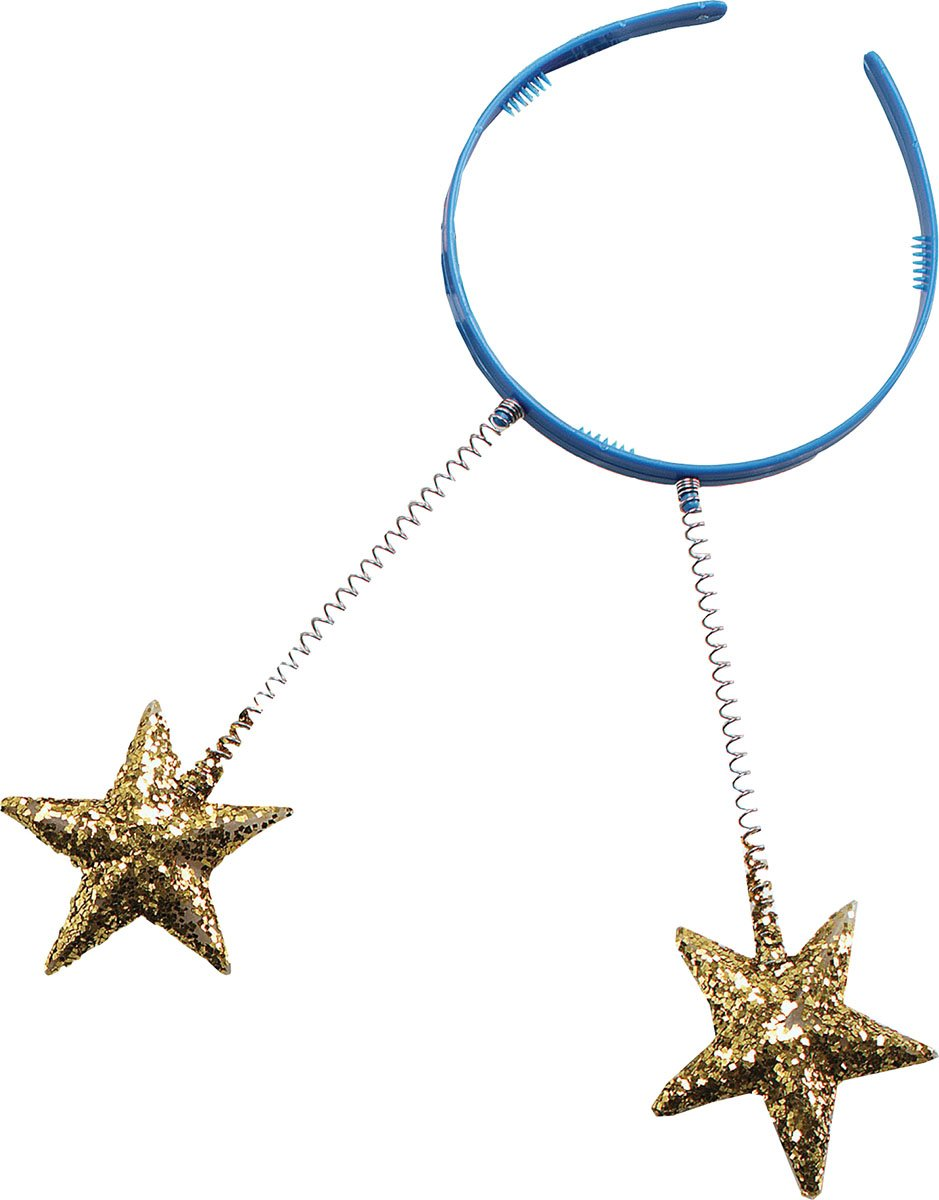 Head Boppers. Gold Stars Pack Of 12 by Bristol Novelty