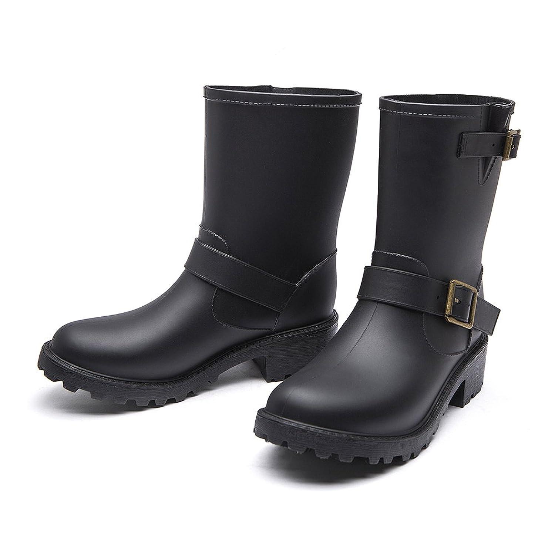Female Non-Slip Comfortable Waterproof Rain Boot Hard-Wearing Waterproof Boots JXC01
