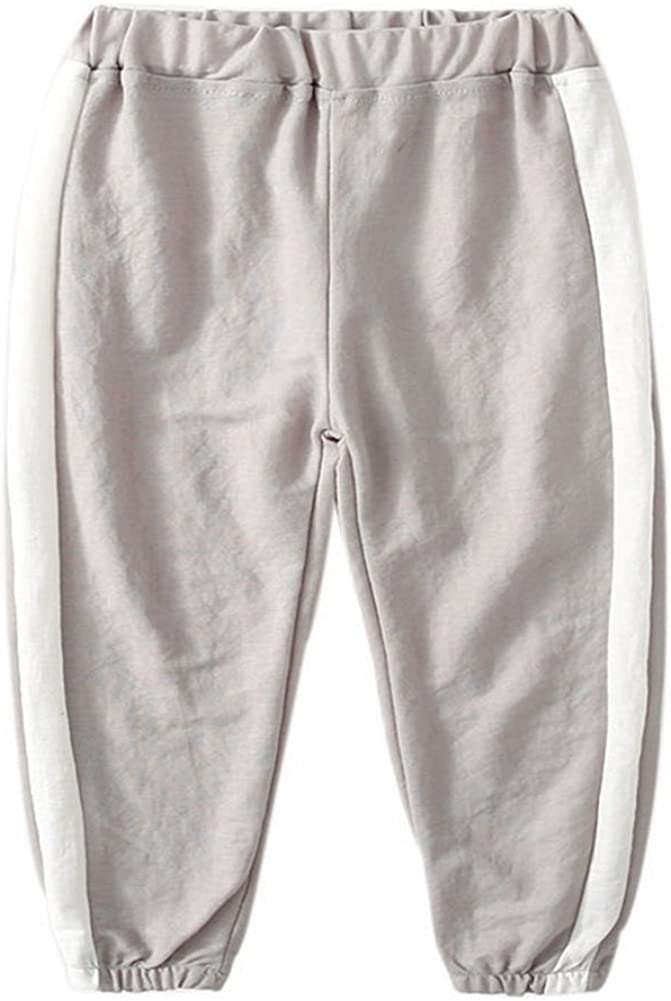 Gentle Meow Comfortable Soft Childrens Trousers Light Gray and White