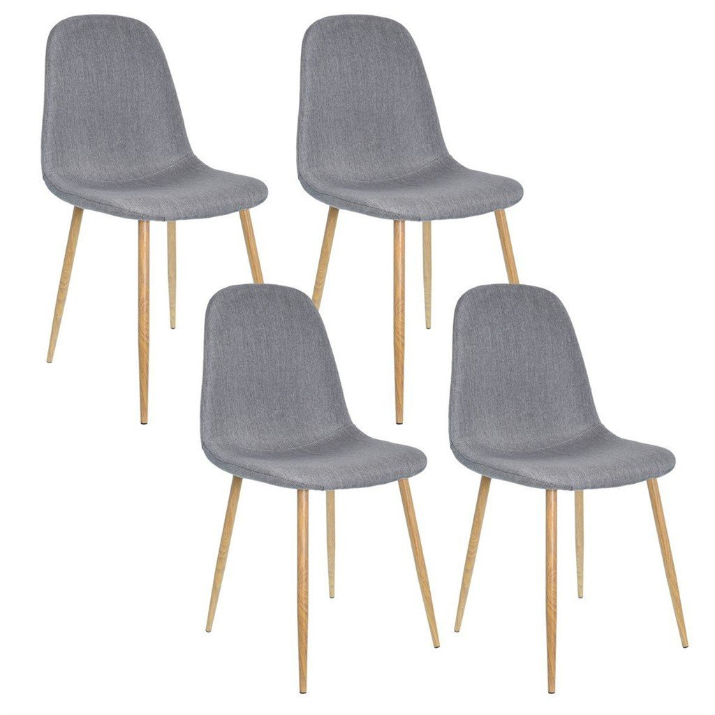 Lot de 4 Chaises DESIGN Métal Scandinave GRIS 45x55xH85cm