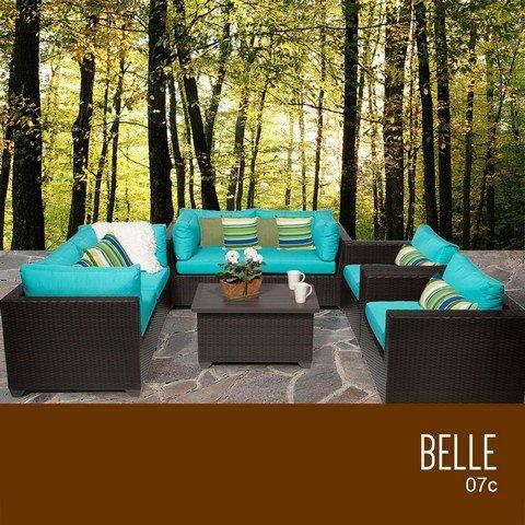 TKC Belle 7 Piece Outdoor Wicker Patio Furniture Set price