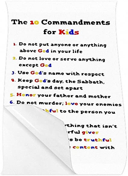 God Gives Moses The 10 Commandments Written On A Stone Tablets Art Poster  30x20