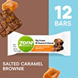 Zone Perfect Protein Bars, Salted Caramel Brownie, High Protein, with Vitamins & Minerals (12Count)