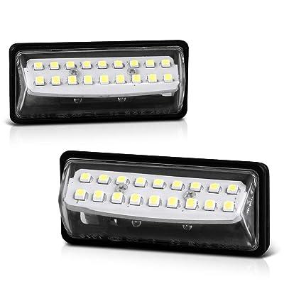 VIPMOTOZ Full LED License Plate Light Lamp Assembly Replacement For Nissan Altima Maxima Murano Rogue Select Sentra Versa Note Pathfinder Quest Infiniti JX35 QX56 QX60 QX80, 6000K Diamond White: Automotive