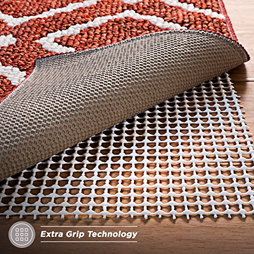 Non-Slip Rug Pad for Hard Floors, Extra-Strong-Grip Thick Padding (5x7-Feet)