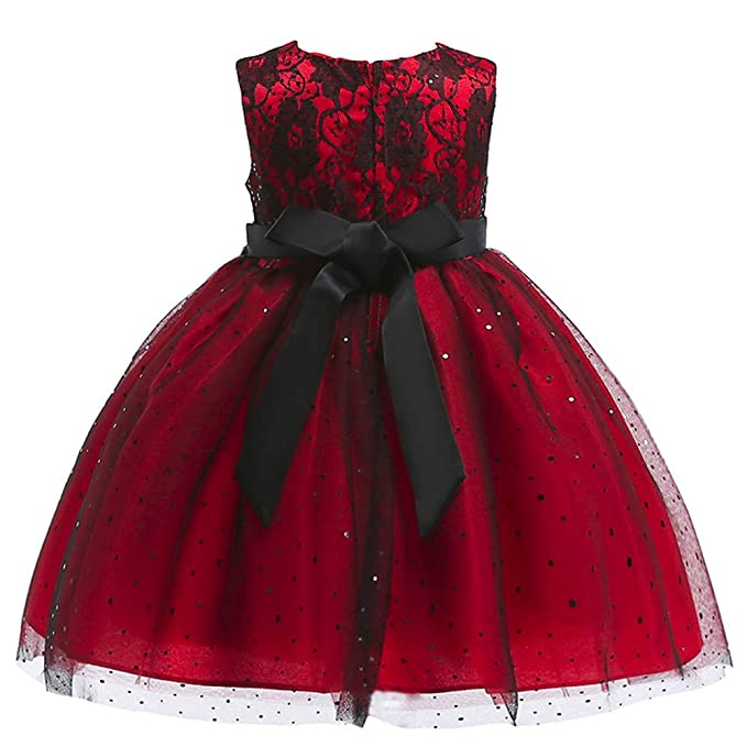 86d90b8187101 Amazon.com: G-Real 2019 New Summer Baby Girls Wedding Party Dress Pageant  Baby Ruffles Tulle Princess Bowknot Dresses: Clothing