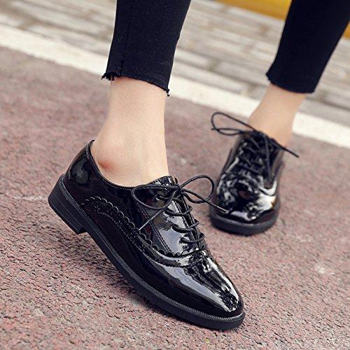 Talladas Solo Muelle El Casual Zapatos Zapatos Pequeño Zapatos Negro Calzado Mujer De GAOLIM qnU0xw648w