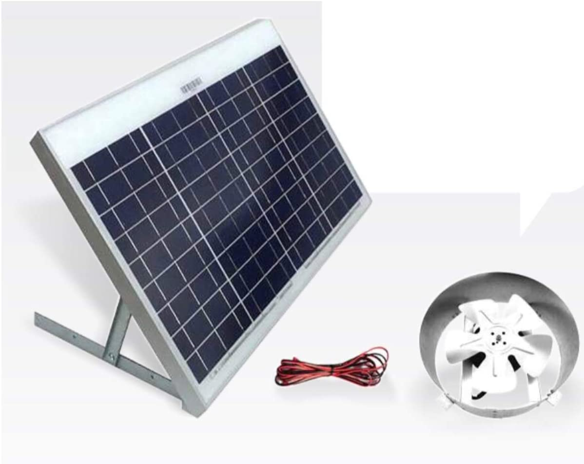 Amtrak Solar Powered ático Gable fan-40 W ventilador, 25 años de ...
