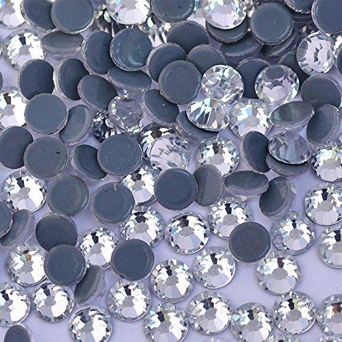 2500pc Bulk 6mm 30ss Clear Crystal Loose Rhinestone Hot Fix