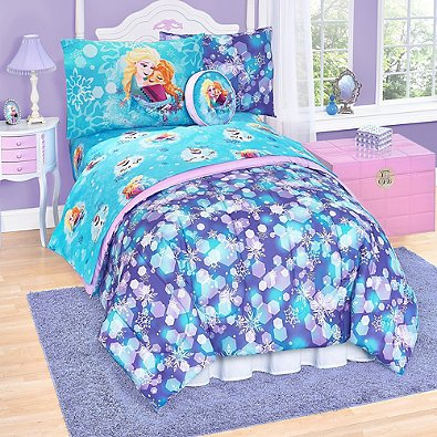 Disney Frozen Elsa 6 Piece Twin Reversible Comforter Set