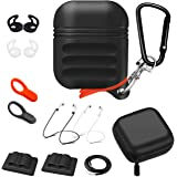 For Airpods Accessories Set 12in1, Sevenpicks Airpods Protective Silicone Case Cover with Holder/Hand Strap/Keychain…