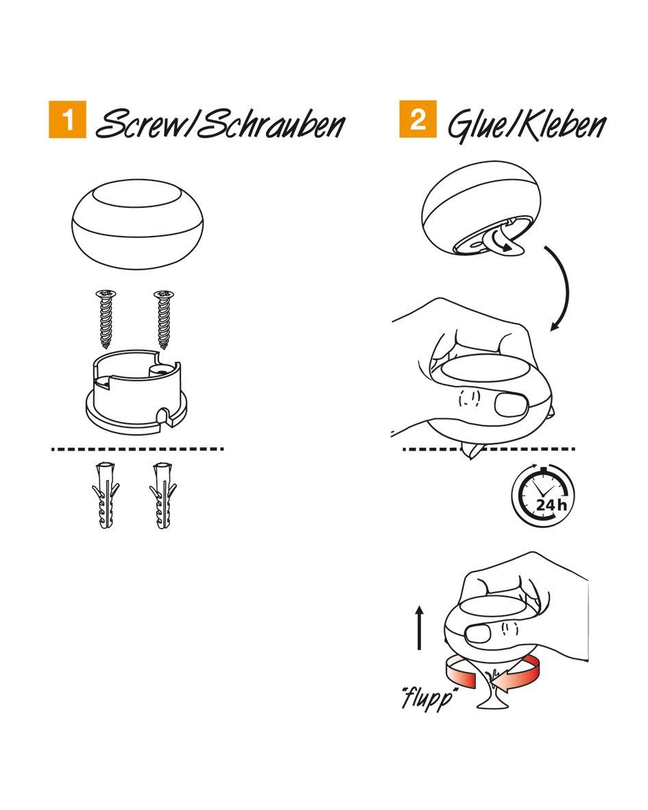 Butoir de porte design /« Screw or Glue /» //// EH 5176