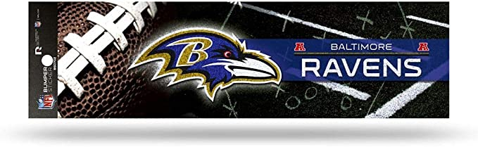 Amazon Com Rico Industries Nfl Baltimore Ravens Decaldecal Bumper Sticker Glitter Team Colors One Size Clothing