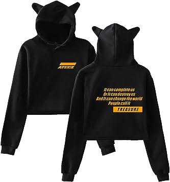ZAWARA Unisex Kpop ATEEZ Hoodies Hipster ATEEZ Hooded Sweater Pullover Sweatshirt for Men Women