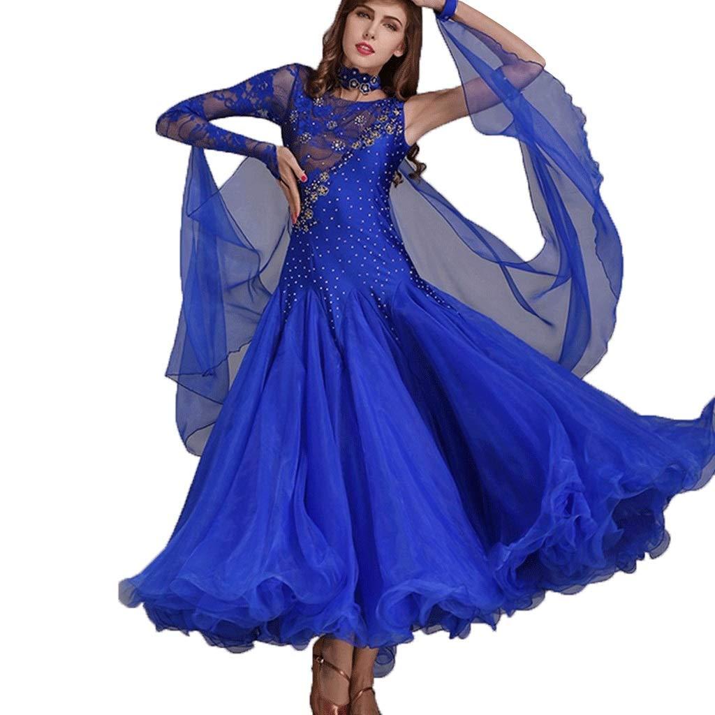 経典ブランド 女性用のダンスドレスワルツパフォーマンス民族衣装レースの袖の競争社交ドレスシリーズダンスドレス B07QM68TR9 S S s|ダークネイビー S s ダークネイビー S s, セレスティ:39c86b33 --- a0267596.xsph.ru