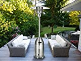 MAGIC UNION Standing Patio Heater Propane Powered Pulse Ignition Stainless Steel