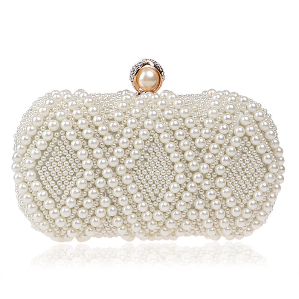 496975c99e73 Amazon.com: Women Clutch Bag Purse Evening Handbag Glitter Pearl ...
