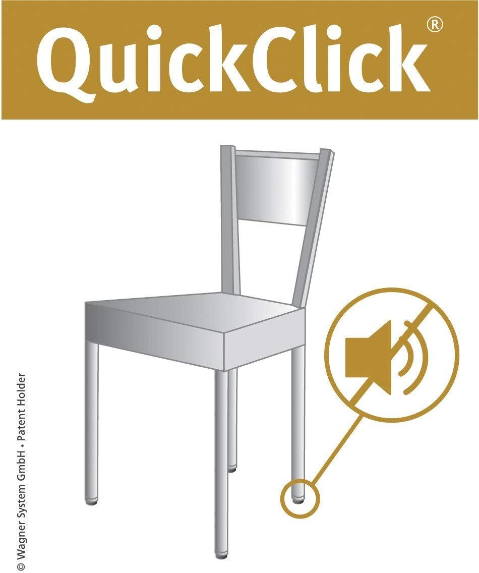 /Diametro 17/mm/ /15780200 Wagner QuickClick/® Sedia gleiter////Set da avvitare////Ultra Soft Slim/