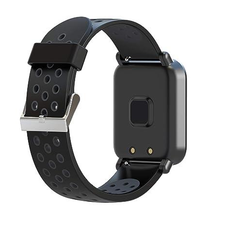 Leotec Helse - Reloj inteligente, Color Negro: Amazon.es: Electrónica