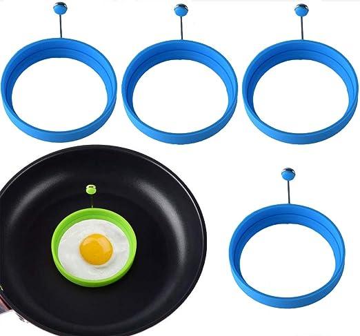 Juego de 4 moldes de silicona para huevos fritos, horno ...