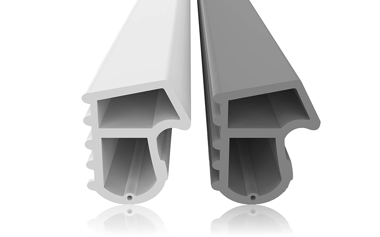 Guarnizione in acciaio contro correnti d'aria, rumori e polvere, per risparmiare costi di riscaldamento, guarnizione, 4 mm larghezza scanalatura 7 mm profondità scanalatura 12 mm piega