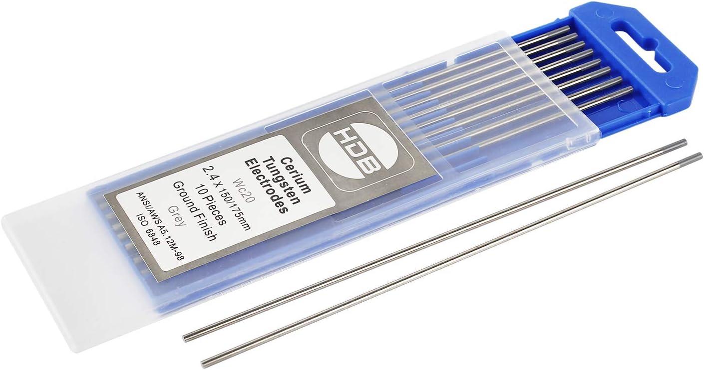 Wilktop 10 x Electrodos de Tungsteno WL-15 Electrodos de Tungsteno 1.6/Ø x 175mm Varillas de Tungsteno para Soldadura Oro
