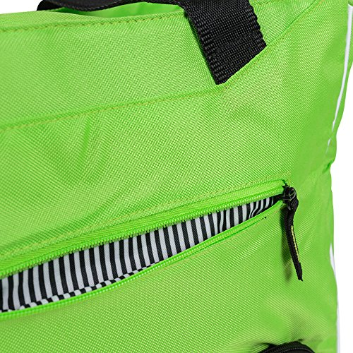 6 PACK FITNESS BAG CAMILLE MEAL MANAGEMENT TOTE LIME