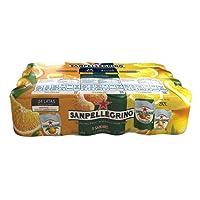 San Pellegrino Agua Mineral Mix Pack, Sabor Aranciata, Limonada y Clementina, 330 ml, 24 Pack