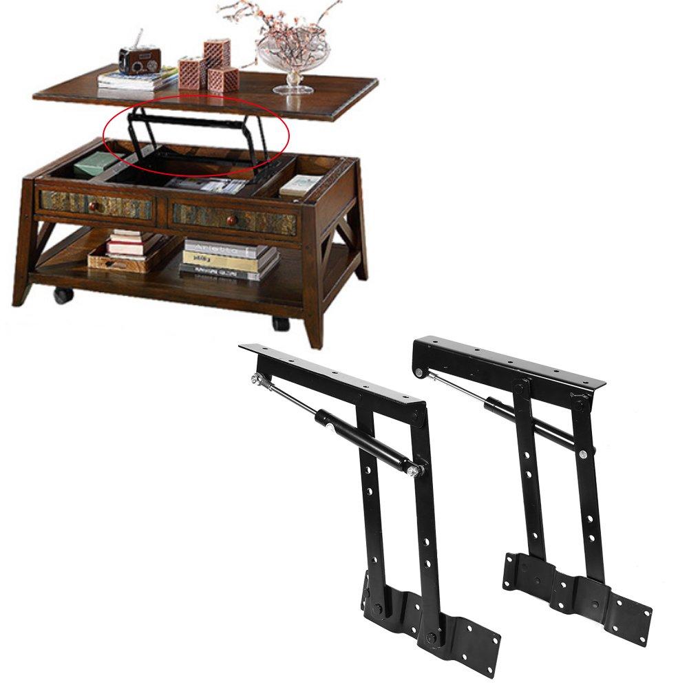 Mesa de centro plegable gr/úa 2 x Pr/áctico levantar el mecanismo de la mesa de caf/é Hardware Top levantar los muebles del marco