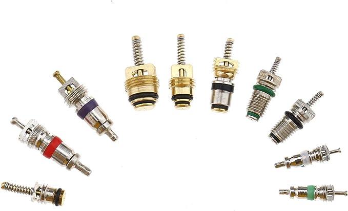BIYM 102pcs Kit Assortiment de climatisation R/éparation de Carottes de Soupape Remplacement