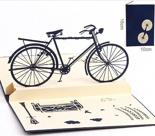 BC Worldwide Ltd Hecho a mano 3D pop-up tarjeta vintage azul ...