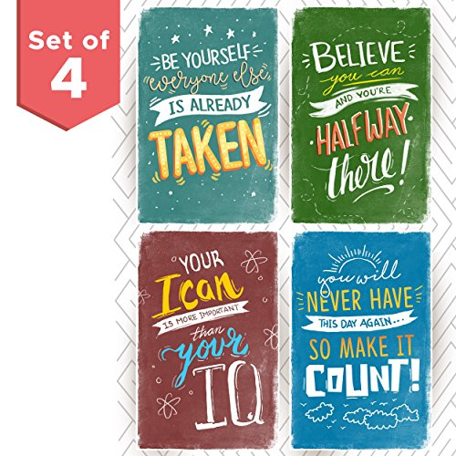 Kid's Room Posters With Inspirational Motivational Phrases, Great as gift for boys or teens. Wall Art Decor with quotes for Classroom!