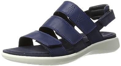 Ecco Damen Soft 5 Offene Sandalen mit Keilabsatz