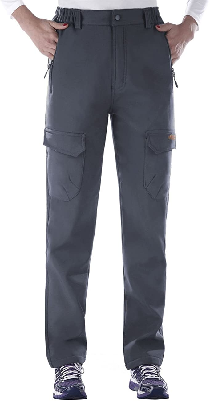Unitop Women's Winter Outdoor Warm Water-Resistant Fleece Lined Ski Snow Pants : Clothing