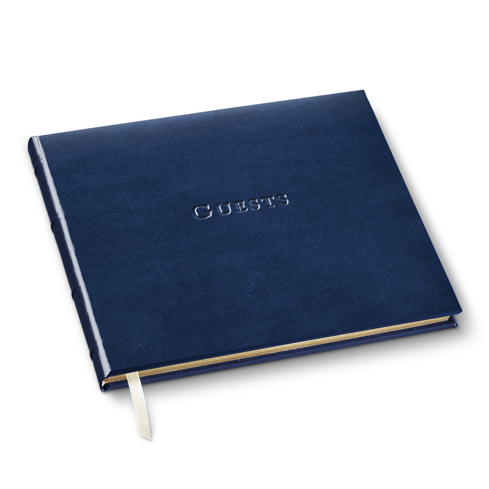 Gallery Leather Guest Book Acadia Navy
