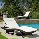 Soleil Outdoor Water Resistant Chaise Lounge Cushion (Beige)
