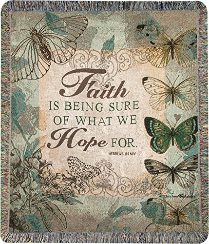 Faith Is Being Sure 50 x 60 Tapestry Throw Blanket B01N6BD6SO