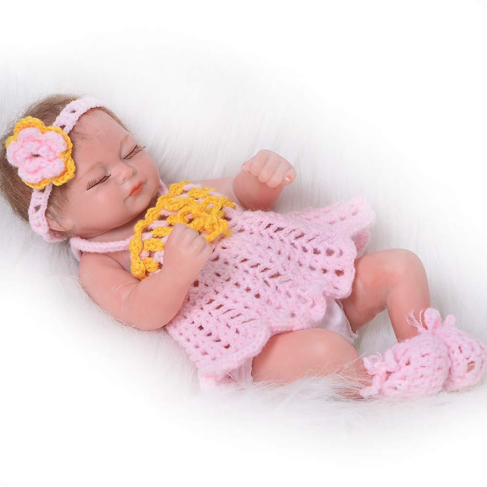 MCCW Renaissance bébé poupée 26CM Renaissance poupée fermée Eye Simulation bébé Cadeau Ensemble