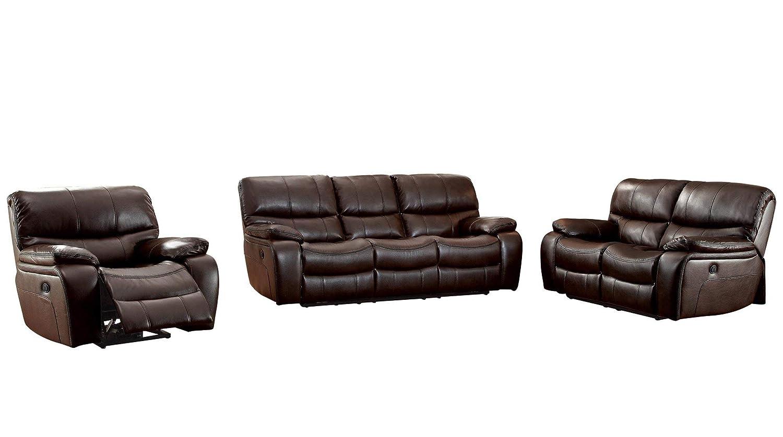 Amazon Com Parker 3pc Double Reclining Sofa Love Seat