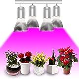 Esbaybulbs Iluminación para plantas 28W E27 Plant Growth Bombillas Espectro completo para lámparas de interior Cultivo hidropónico Plantas de invernadero Luces de Suculentas [4 Pack]