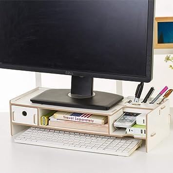 KKLTWU Ordenador Monitor Soporte Elevador, Escritorio Organizador ...