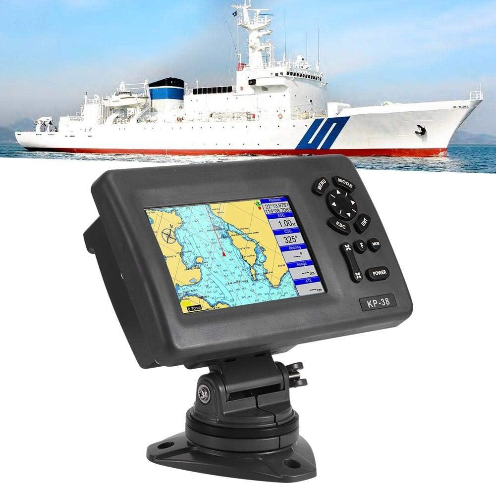 Navegador GPS marino impermeable con transpondedor AIS de clase B (KP38A) Plotter de carta náutica con pantalla LCD en color de 5 pulgadas: Amazon.es: Coche y moto