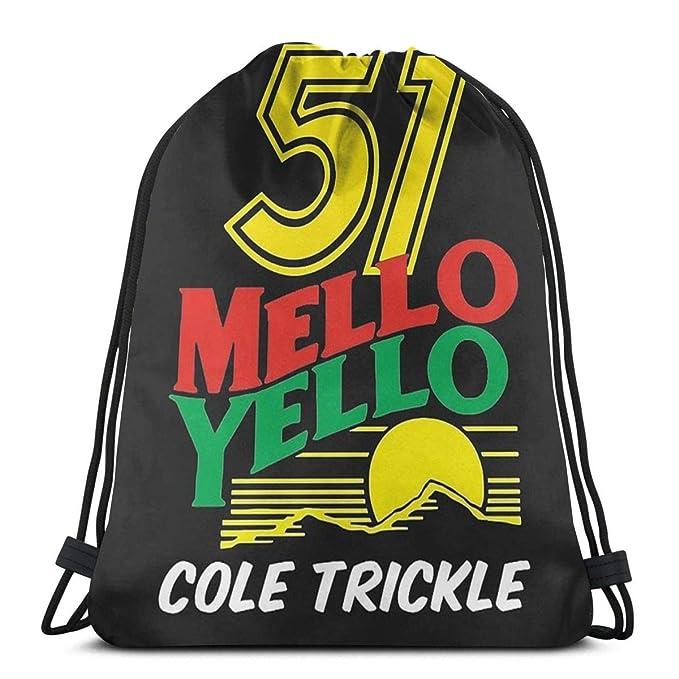 No aplicable WONEE 51 Mello Yello Cole Trickle Days of Thunder Bolsa de Deporte Bolsa de Gimnasio Bolsa Mochila con cord/ón