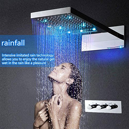 Gowe Hot And Cold Bathroom Faucet Shower Accessoires LED Conceal Shower Set 304 Stainless Steel Waterfall LED Shower Mixer Tap 0