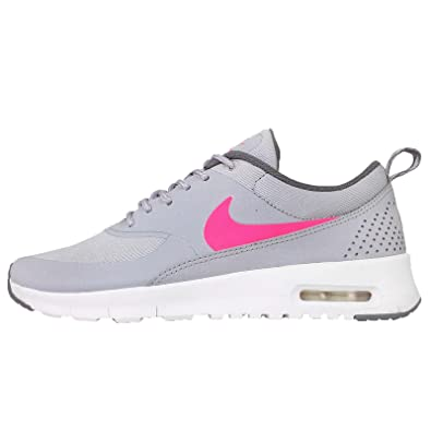 Amazon.com | Nike Kids Air Max Thea GS, WOLF GREY/HYPER PINK-COOL ...