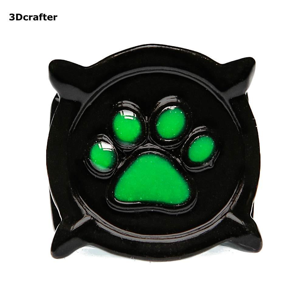 Anillo de gato Noir. Talla EE. UU. 5, 6, 7, 8, Brilla en la oscuridad. Inspirado por Miraculous Lady Bug catnoirrings